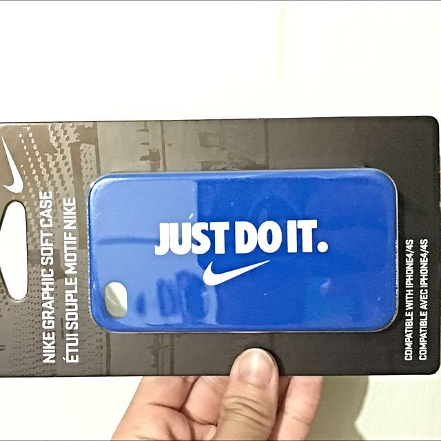 Nike iPhone 4/4s 保護套 軟殼 藍 桃紅 橘色
