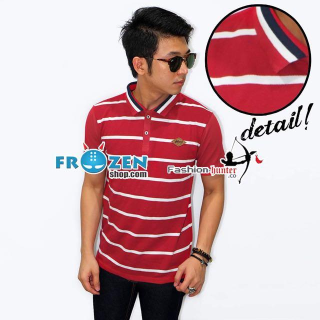 Polo Body Big Stripe Red
