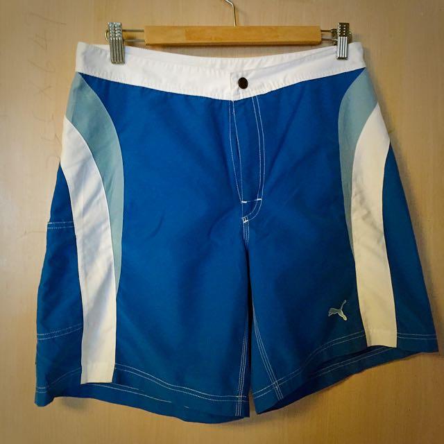 Puma 陽光男孩藍白色調衝浪海灘褲