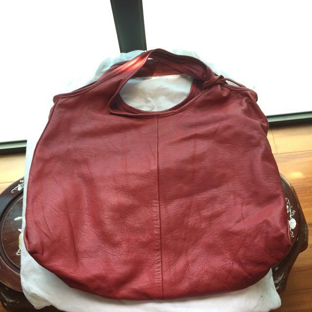 Rabeanco紅色真皮包
