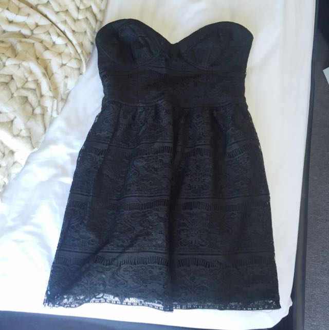 Zara Lace Tube Dress S