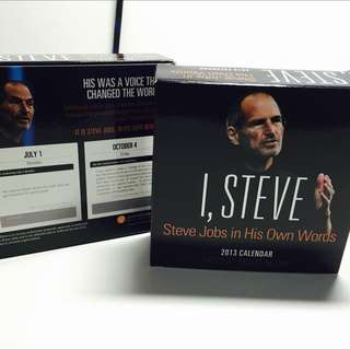 I, Steve - Steve Jobs In His Own Words Calendar 2013 New