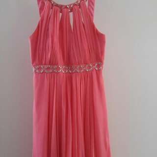 Forever New Watermelon Grecian Dress