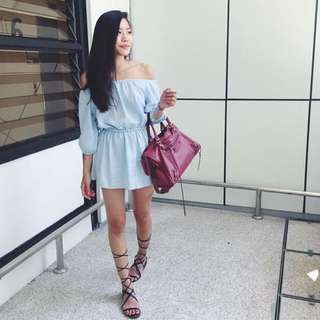 Blue Offshoulder Top / Dress