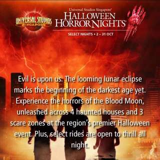 Universal Studios Singapore Halloween Horror Nights 2015