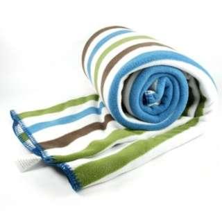 超纖細搖粒絨雙面蓋毯 (條紋 / 藍)