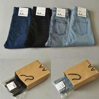超熱賣顯瘦  AA高腰彈力牛仔褲