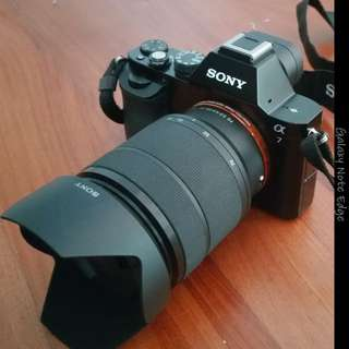 Sony A7 + 28-70mm Kit Lens with Hoya HMC UV filter (comes with box)
