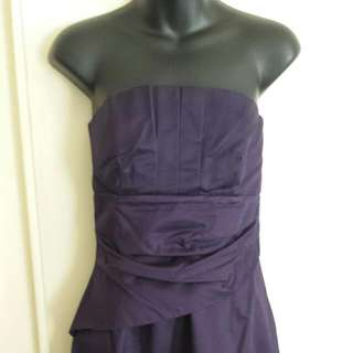 Review Size 10 Purple Strapless Dress