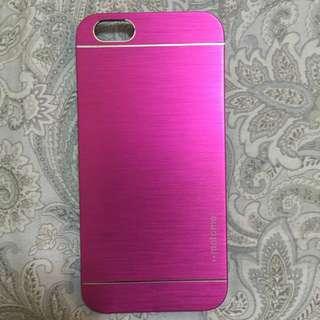 桃紅金屬抽絲iphone6/6s手機殼4.7