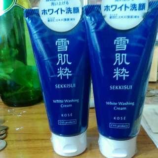 日本原裝雪肌粹洗面霜一條(含運)