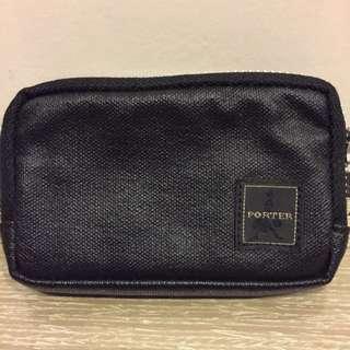 PORTER MILKY 系列 鑰匙包 零錢包 卡片 黑色皮革 自製铆丁