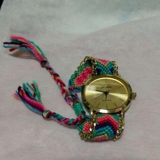 [全新降價]波希米亞/民族風 彩色編織手錶