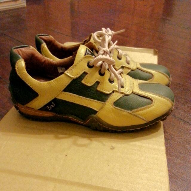 降價求售!Zobr 真皮氣墊運動鞋 23.5cm