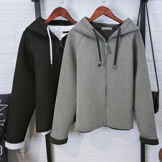 秋冬空氣層短外套拉鏈上衣
