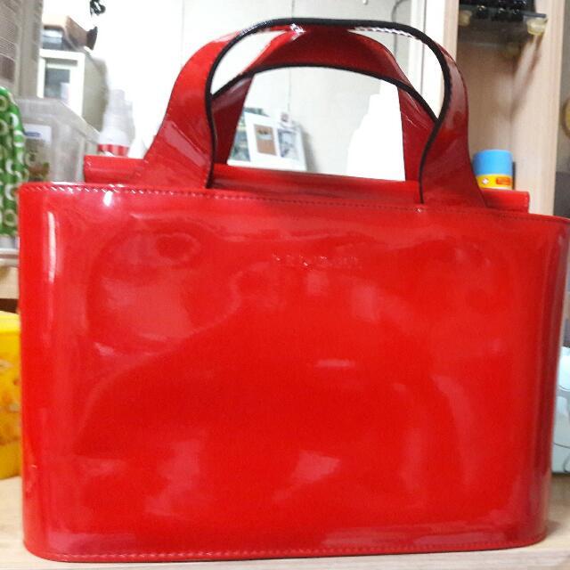 【二手】手提包~大紅色