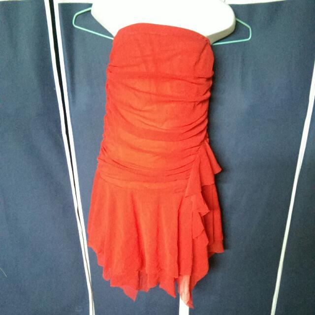 紅色雪紡紗(寶貝@)