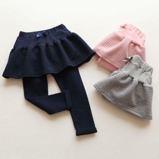 韓版深藍色內搭褲裙