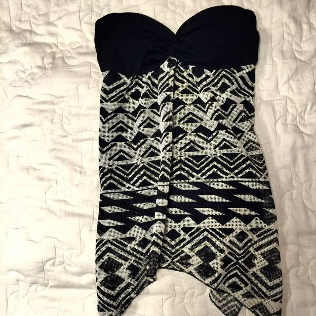 幾何平口罩杯洋裝