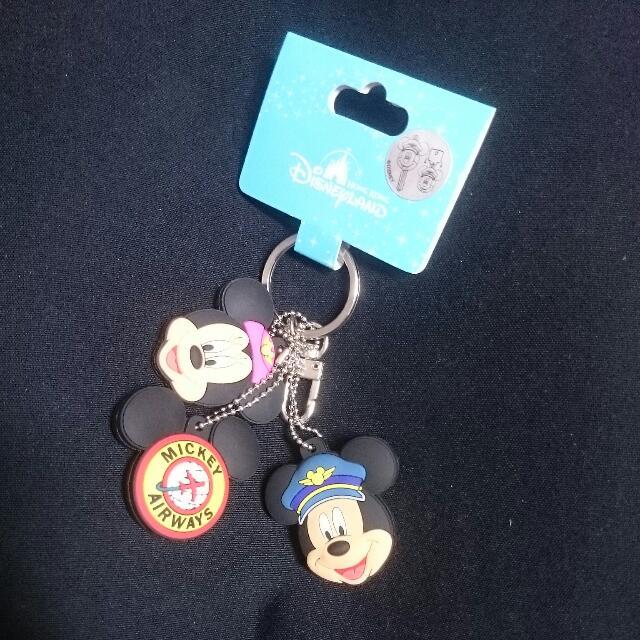 香港迪士尼 鑰匙圈三入