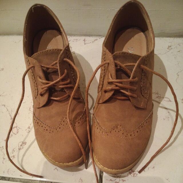 麂皮 棕色牛津鞋