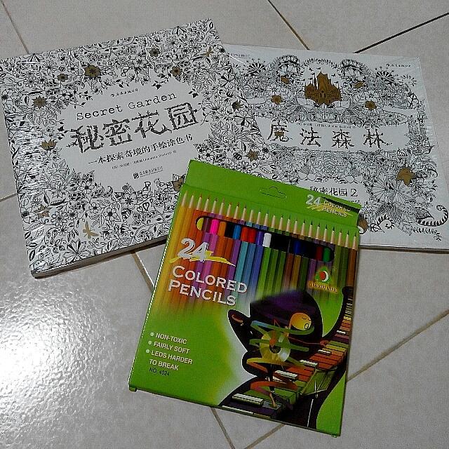 台南 高雄 全新 著色本 魔法森林 秘密花園 療癒畫冊