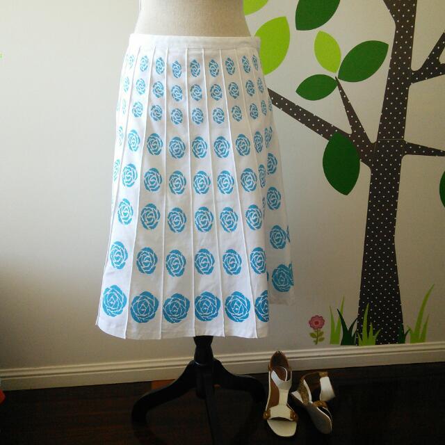 🐦 Blue & White A- Line skirt || Brand ~ Sequel || Size 14