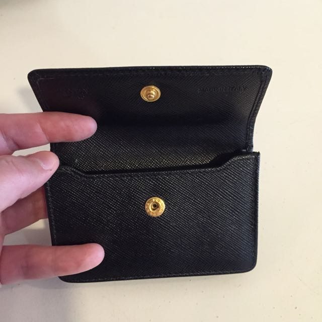 Prada Portafoglio Saffiano Metal Oro Nero