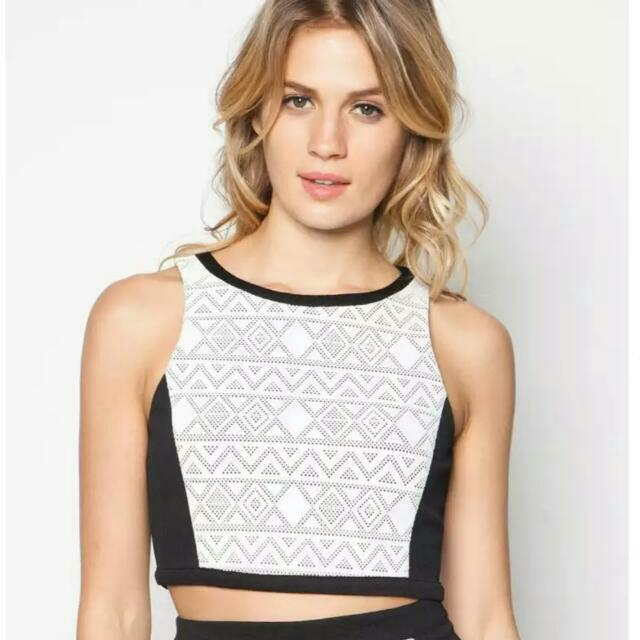 Brand New Zalora Lace Crop Top