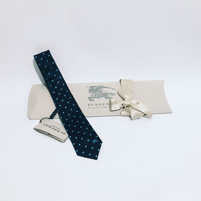 BURBERRY MEN'S TIES MODERN CUT POLKA DOT SILK TIE