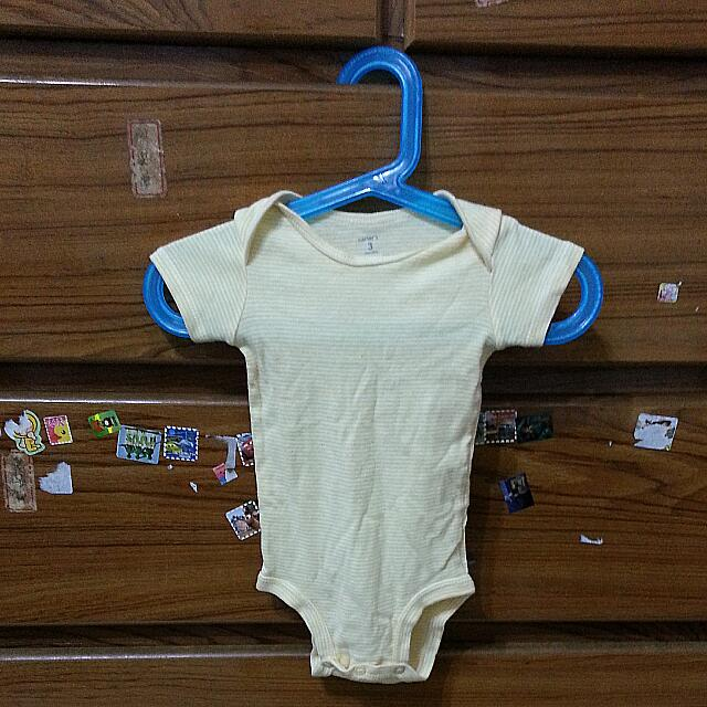 Carter's 男女寶寶夏款短袖橫條紋新生兒包屁衣