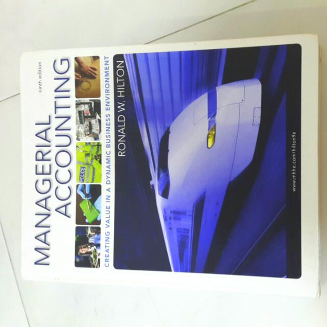 Managerial Accounting Books (ninth edition)