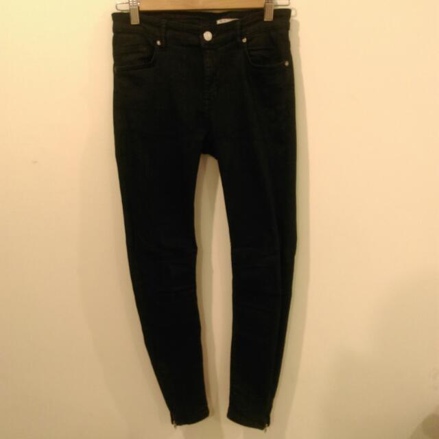 (保留中)Zara黑色長褲