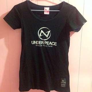 🔴Under Peace 黒黒短袖上衣