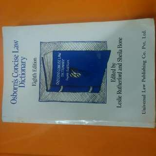 Osborn's Concise Law Dictionary, 8th Ed - Leslie Rutherford & Sheila Bone