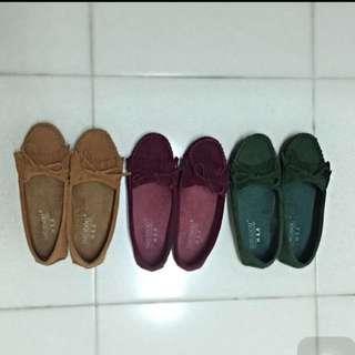 超Q 莫卡辛鞋 豆豆鞋 全新 紅色