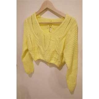 鵝黃短板毛衣