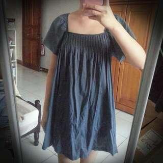 SISLEY無腰身小洋裝