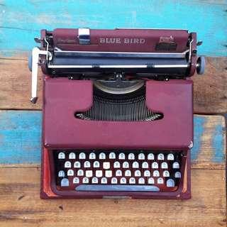 Blue Bird Typewriter