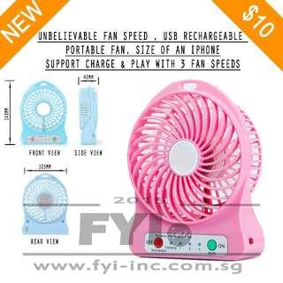 USB Rechargable Portable Fan with Unbelievable Fan Speed - Model : F95B