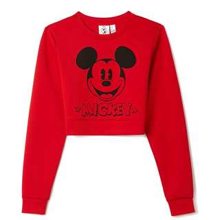 Forever 21 Mickey Mouse Crop Top