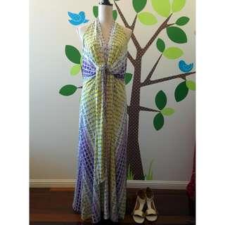 🌻🌸🍍CHARLIE BROWN || Floral Halter neck Resort Dress Size 10-14