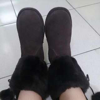 Rockey Bear棕色中統雪靴*