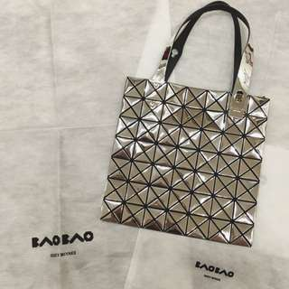 三宅一生 Issey Miyake Baobao 2015限量黑標款 7x7金屬銀 Platinum Silver