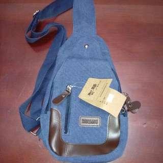 韓版時尚 帆布 側後背包