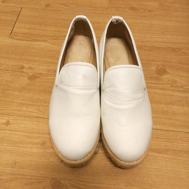 🎈厚底麻花純白鬆糕鞋🎀