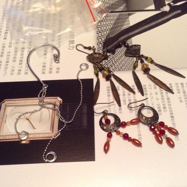 二手飾品-民族風耳環、個性耳飾