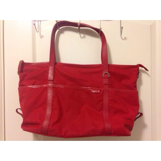 Agnes.b 紅色 手提包 肩背包
