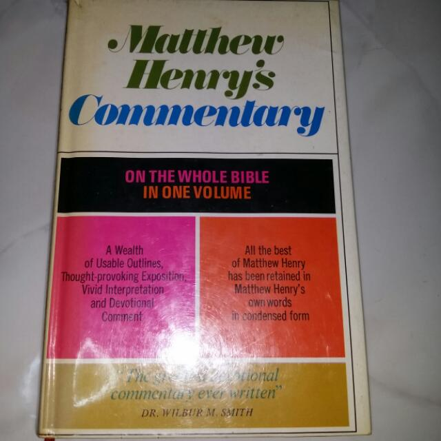 Reserved) Bible Commentary By Matthew Henry, Books