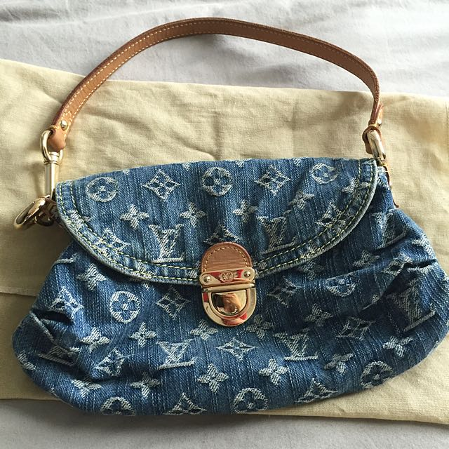 191de27f212 Louis Vuitton Denim Mini Pleaty Handbag, Luxury on Carousell